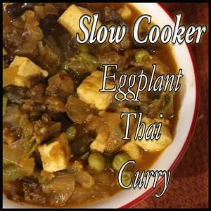 Vegan Slow Cooker Eggplant Curry