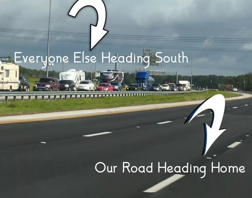There was no traffic to speak of heading North after Hurricane Irma. Unfortunately, I-65 South, I-10 East, and the Turnpike were parking lots.