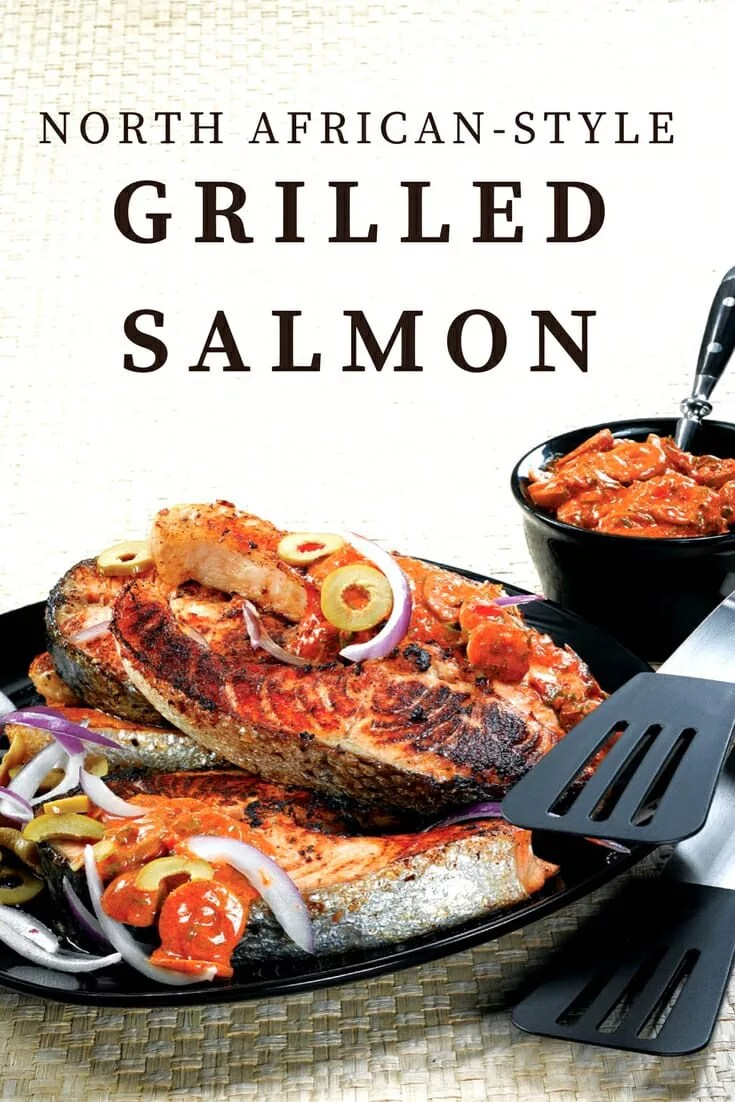 Grilling Season sprung with spring! This North African Grilled Salmon recipe is the perfect recipe to welcome the season!