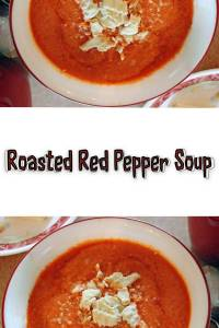 Get dinner for two on the table in 15 minutes with this easy Roasted Red Pepper soup recipe. This simple vegetarian soup is low-calorie, has a rich flavor, and a smooth consistency. I found it in the book: Vegetarian Quick & Easy - Under 15 Minutes by Jonathan Vine. This book is full of easy, tasty, family friendly vegetarian recipes that cook in 15 minutes. It's the perfect summertime cookbook! The recipes aren't fancy. They are quick, easy meals that practically make themselves. If you are looking for a gourmet meal, this isn't your book. If you're exhausted and need dinner on the table so you can collapse on the sofa and relax, this is your go-to!