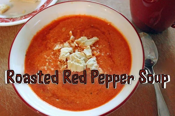 Roasted Red Pepper Soup Recipe from Vegetarian Quick & Easy - Under 15 Minutes by Jonathan Vine
