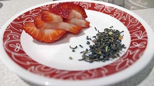 Strawberries and Loose Leaf Chai Tea