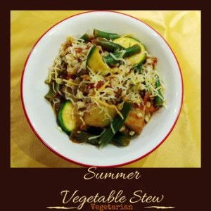 Summer Vegetable Stew - or what to do with all those co-op veggies.