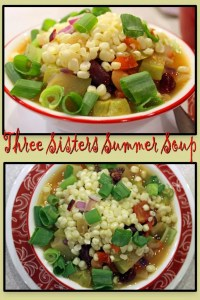 A delicious, filling summer soup with roots in Native American folklore and legend, Three Sisters Summer soup is a beautiful bounty for the eyes. High fiber, high protein, vegan, and versatile, this light summer soup is a meal in itself.