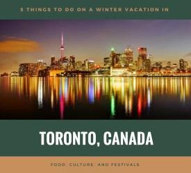Toronto Winter Vacation Planning - Skyline at Night