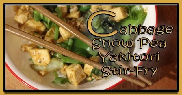 Cabbage and Snow Pea Yakitori Stir-fry Recipe