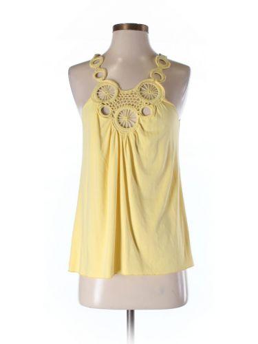Yellow Max Studio Sleeveless Top with some interesting embellishments