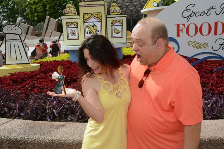 Remy decided to join in on the Epcot Food and Wine Festival Fun. I mean, he's a rat who cooks? How would NOT be there!