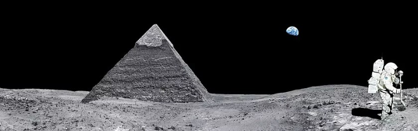 According to David, pyramids are landing pads for spacemen.