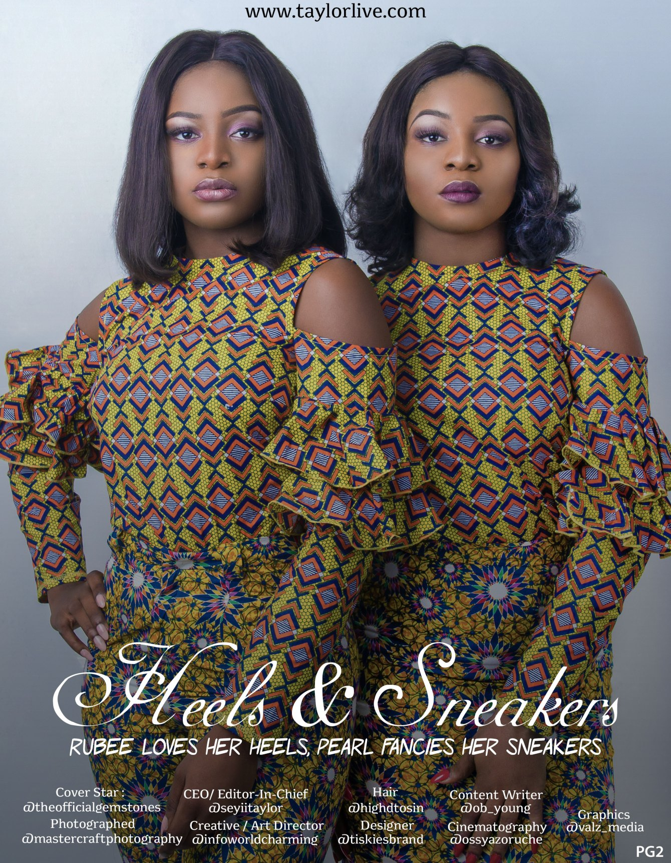You Look Like Me! Rubee & Pearl Covers Taylor Live Magazine's Latest Issue