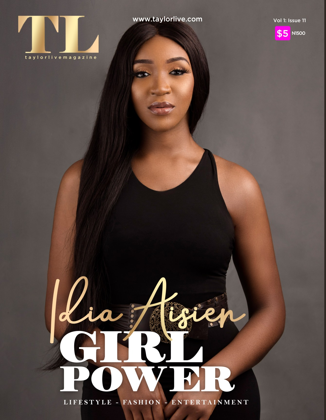 GIRL POWER Idia Aisien  Covers Taylor Live Magazine's Latest Issue