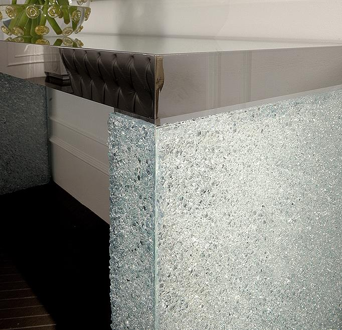 Designer Console Table With Crushed Glass Taylor