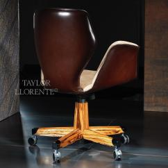 Office Chair Steel Base With Wheels Banquet Trolley Luxury Leather Swivel -architectural | Taylor Llorente Furniture