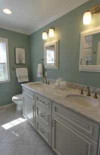 Bathroom - Sage Green Marble | Taylor Made Custom Contractors