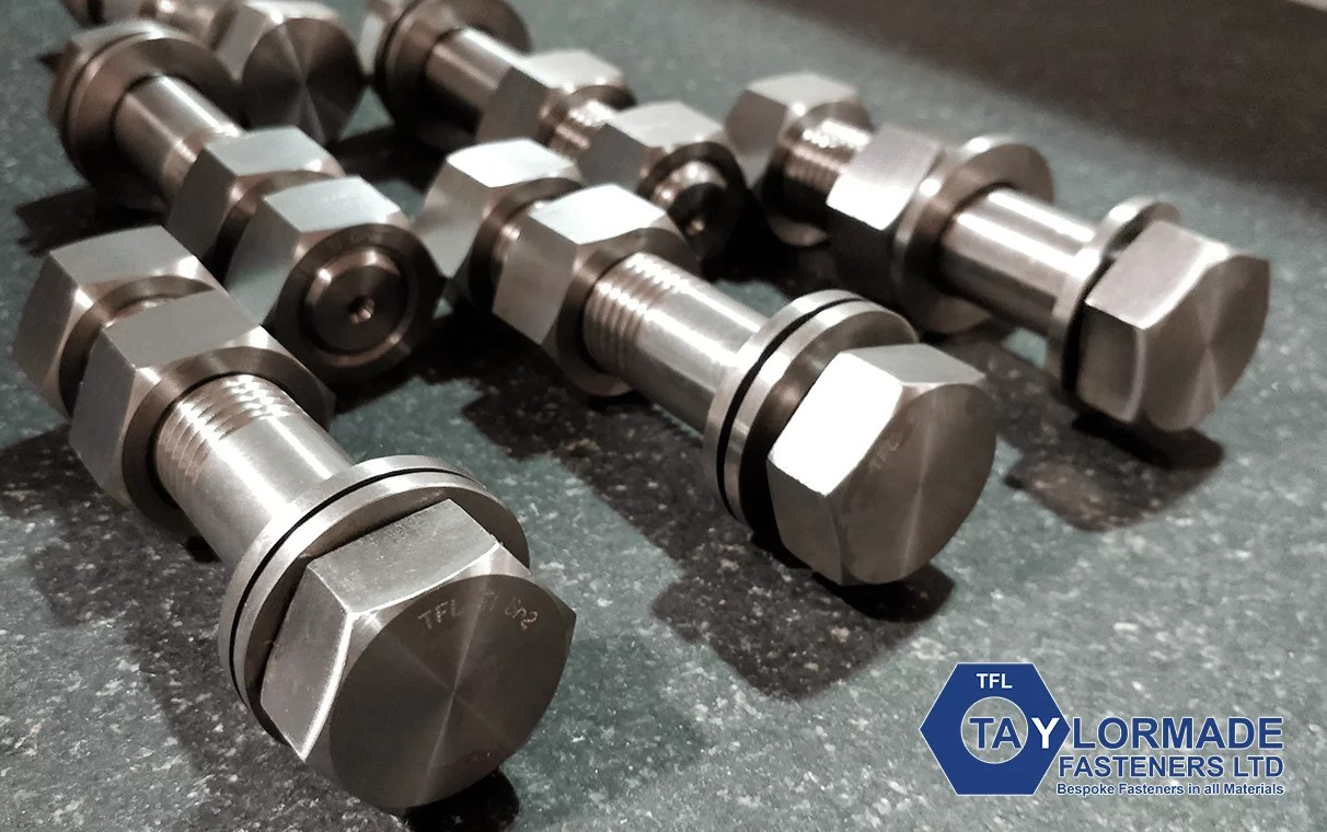 Nut, bolt and washer assembly - Titanium Grade 2