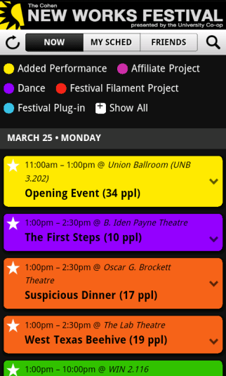 Android Event Schedule