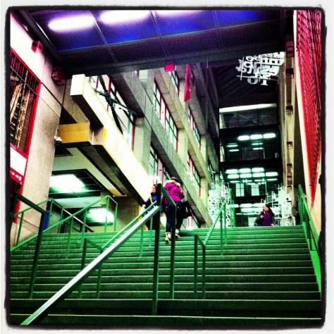 Concordia Library Atrium from the Underground
