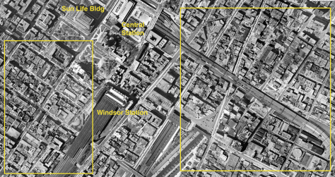 The yellow boxes represent some of the most heavily depopulated areas of the city.