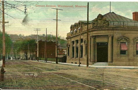 Greene Ave at what is now Boul. de Maisonneuve, circa 1905