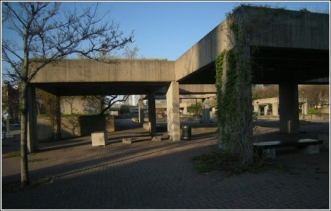 The next phase - this is passed for a park on top of a highway in 1982; neat idea, poor execution, worse location.