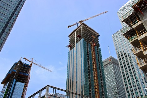 Panorama of new downtown towers - June 17 2015