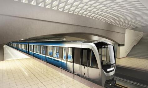 Azur Métro train rendering