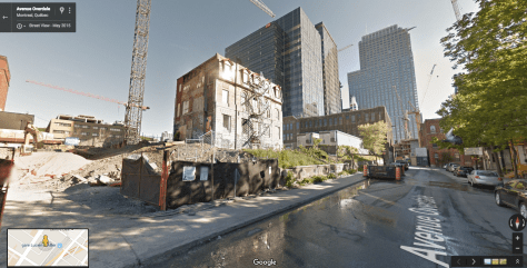 Lafontaine House on the Overdale Block - Google Street View, May 2015