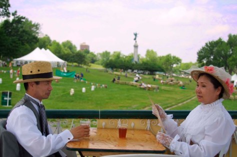 Tea time at the old gazebo ca. 2001 - credit to Andrew Dobrowolskyj