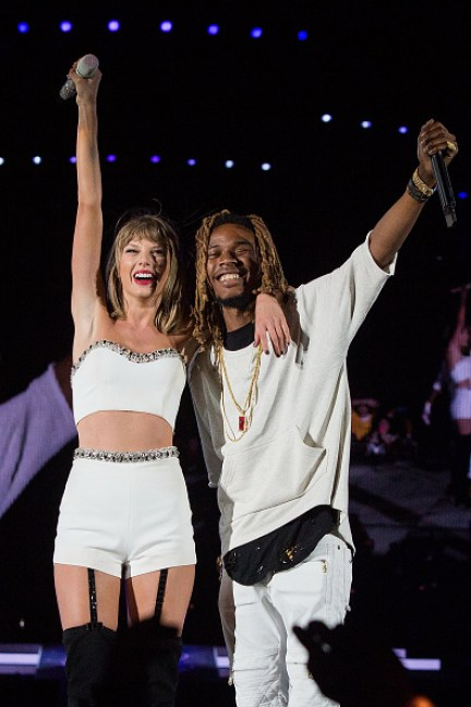 Taylor Swift and Fetty Wap after performing