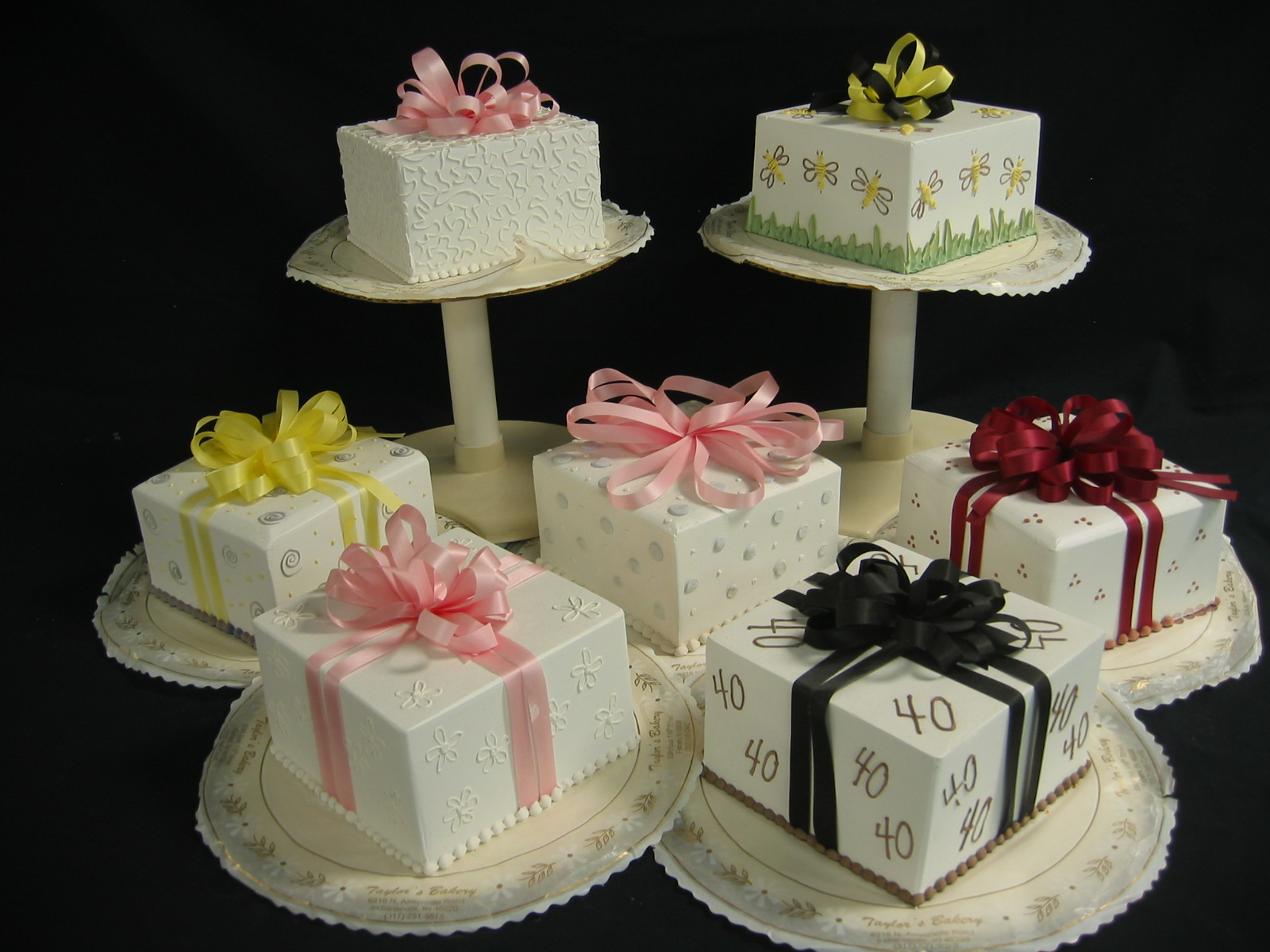 Square Package Cakes  Taylors Bakery