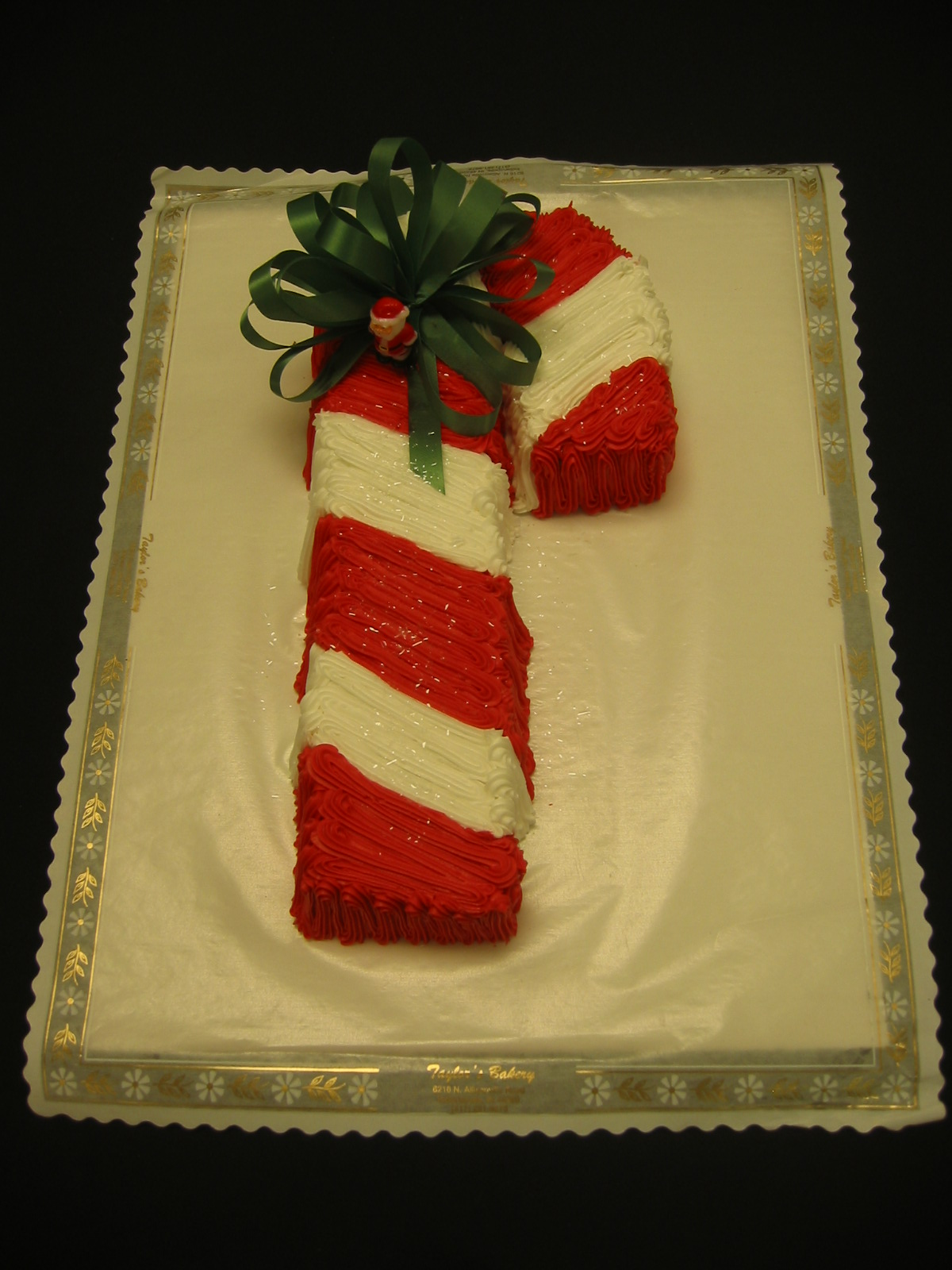 Candy Cane Shaped Pillow