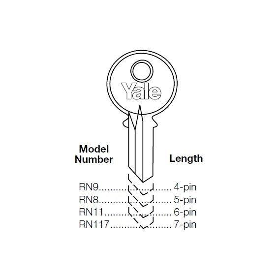 Original Yale: 50-Pack RN11GA-RN11-GA-RN11 GA Keyblank