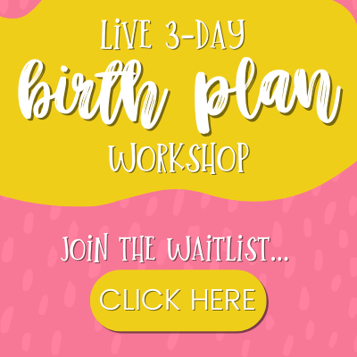 Birth Plan Workshop Square Promo