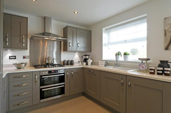 modern cabinets for living room small pictures black and grey kitchens | taylor wimpey
