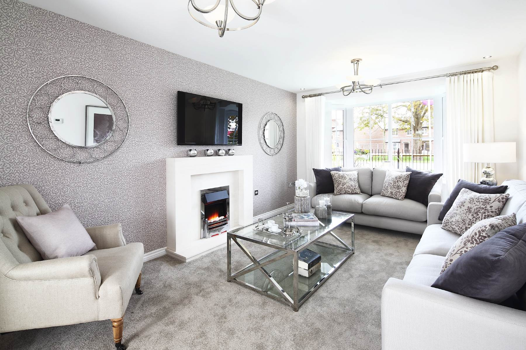 living room show homes fireplace designs willowbrook grange new in shavington taylor wimpey