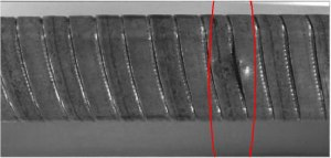 Armor Cable Optical Wrap Defect Inspection Puckering
