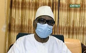President Ibrahim Boubacar Keita reads out his resignation