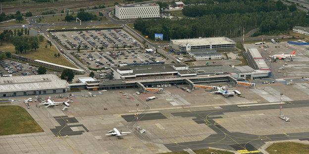 Das Gelände des Flughafen Schönefeld