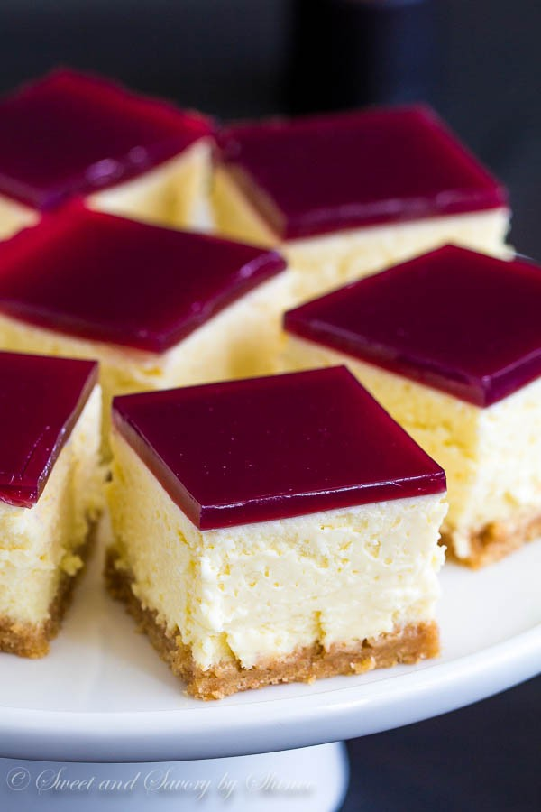 Red Wine Gelee Cheesecake dessert recipes