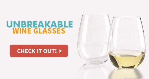get unbreakable stemless wineglasses