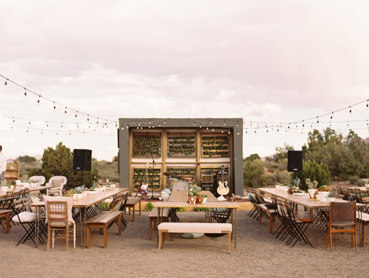 glamping wedding - needs generators!