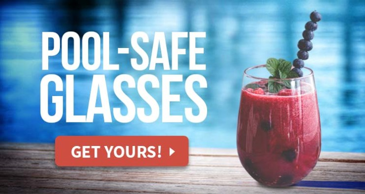 pool safe wine glasses
