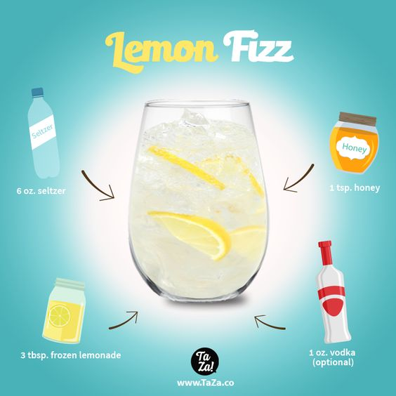 Lemon Fizz summer drink recipe