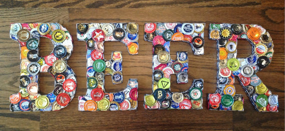 DIY beer sign beer bottle cap crafts