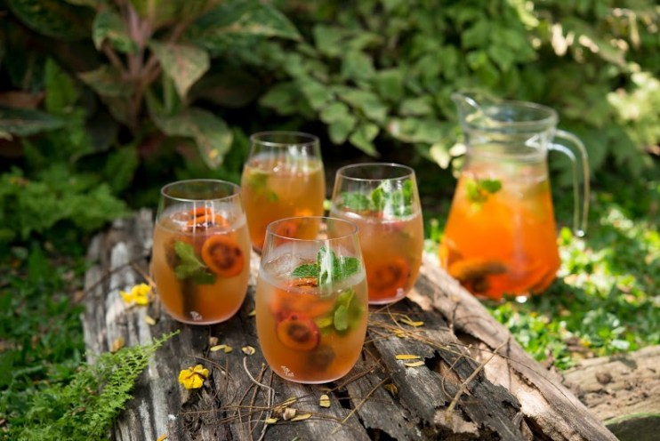 TaZa wine glasses for summer outdoor party