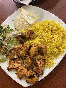 taza grill east lyme chicken kabob platter