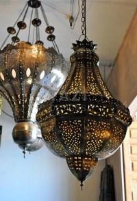 Moroccan Hanging Lamp Pierced Brass Pendant 2 - Moroccan ...