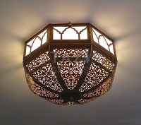 Moroccan Ceiling Lamp  Dome  Tazi Designs