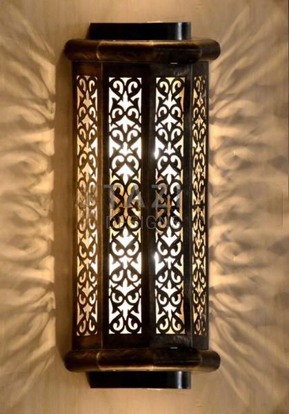 Indoor Outdoor Wall Sconce Vine  Tazi Designs