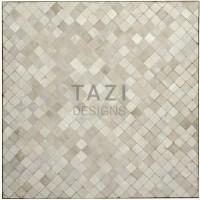 Square Bistro Table in White Mosaic Tile  Tazi Designs